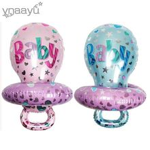 Ynaayu 1pcs Baby Pacifier Foil Balloons Large Size 48*86cm For Shower Birthday Party Decoration Girl Or Boy