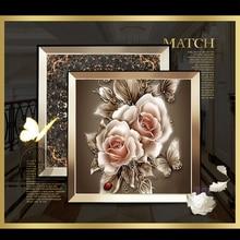 OLY  Diamond embroidery flower 5D diamond cross stitch crystal full sets unfinish decorative Diy painting rose