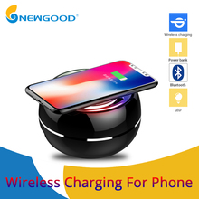 Mini Bluetooth Speaker Portable Wireless speaker Sound System with microphone loudspeaker support wirless charger for phone