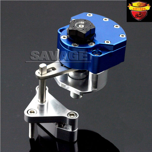 NEW For YAMAHA YZF-R25 YZF-R3 YZF R25/R3 Blue Motorcycle Steering Damper Stabilizer with Mounting Bracket Kit