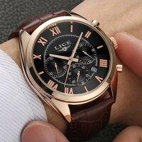Mens Watches Top Brand Luxury LIGE Multifunction Chronograph Sports Watch Man Fashion Quartz Watches Men Clock