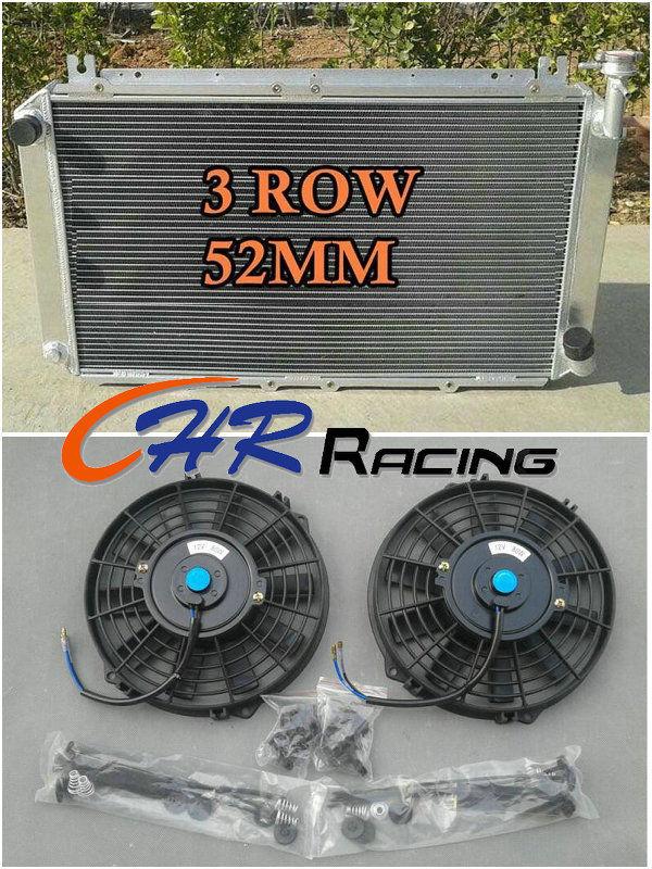 Confident New Aluminum Universal Radiator Shroud Fans For Nissan Y60 Patrol Gq 4.2l Tb42s Tb42e Petrol 1987-1997 87 88 89 90 Brand New