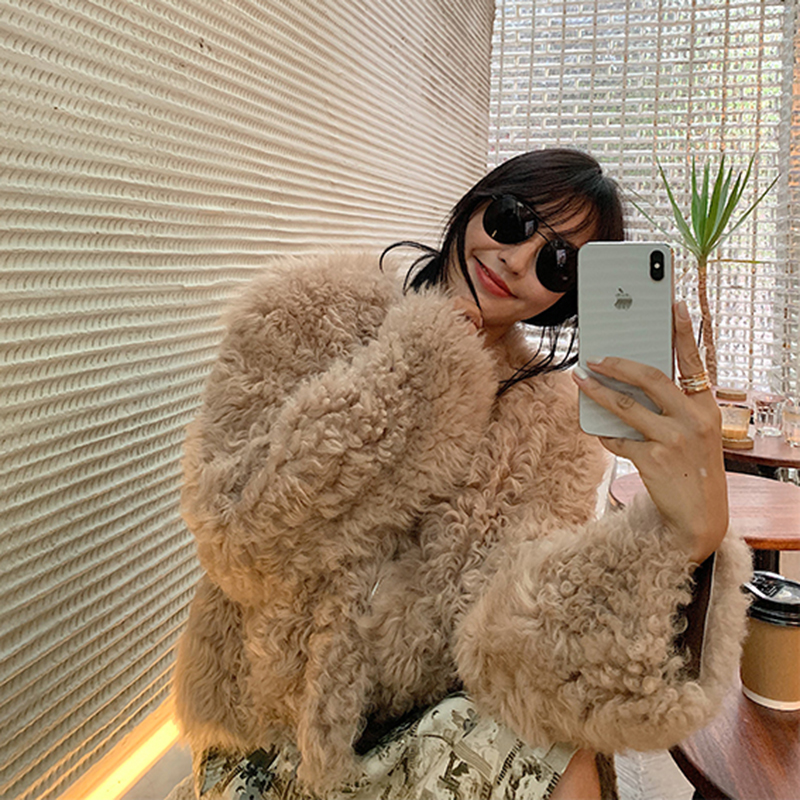 Imported Tuscany Fur Outer Cover Female Dermal Curly Fur Overcoat New Type 2019