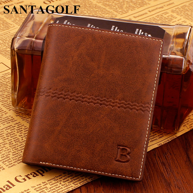 Vintage fashion men Wallets Multi Cardholders Standard Wallets young men business casual B Brand purses 2017 NEW