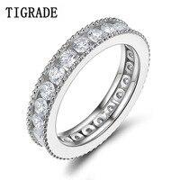 TIGRADE Echte Zilveren Ring Size 4-10 Vrouwen Trouwringen Romantische Liefde Stijl Groothandel Sieraden Bague Mariage Femme