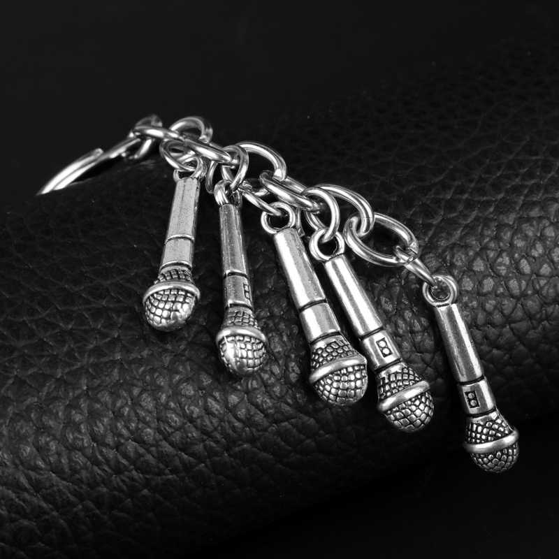 Dongsheng Забавный дизайн брелок микрофон автомобильные брелоки для сумки бижутерия для декорирования музыки вентиляторы подарки-50