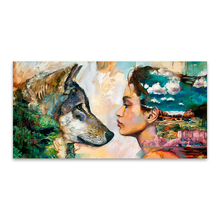 Wolf and Girl Wall Picture For Room