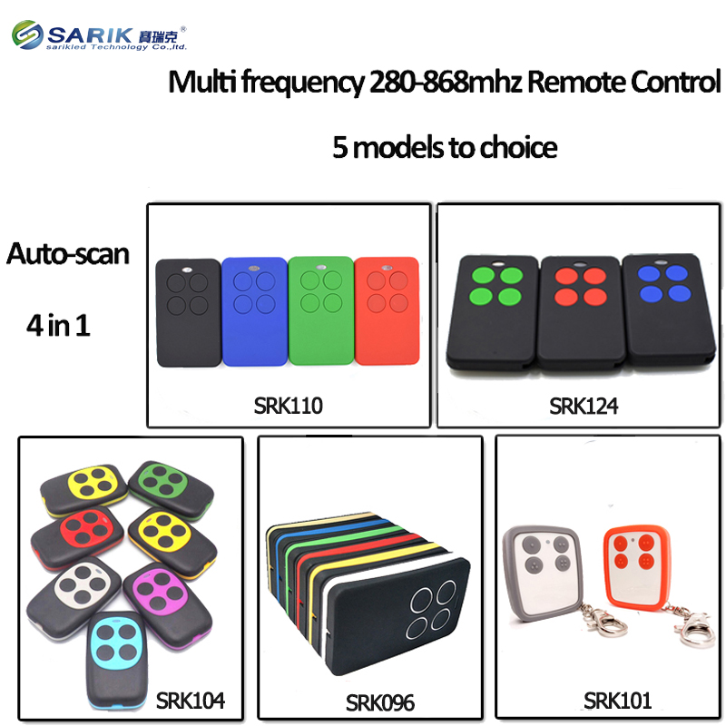5PCS 280 868mhz Auto scan Multi Frequency Universal Remote Control Replacement For garage gate door rolling