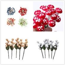 50/5/10PCS Decorative Blueberry Fruit Berry Artificial Flower Silk Flowers Fruits For Wedding Home Party Decoration Plant