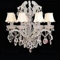 Современные светодиодные хрустальные люстры канделябро decorativos de velas люстры потолочные канделябро подвесные лампы люстры