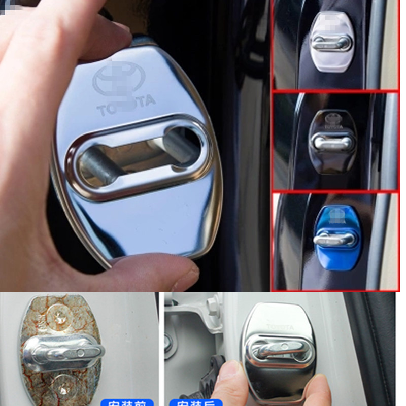 Stainless Steel Door Lock Buckle Door Holder Protector Cover For Toyota Land Cruiser 200 Prado 150 120 Accessories