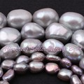 Free Shipping 5-7/8-9/9-10/10-11mm Gray Potato Natural Freshwater Pearl For DIY Necklace Jewelry Making Beads Loose Strand 14.5""