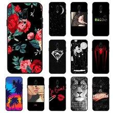 Ojeleye Fashion Black Silicon Case For Meizu 16 Plus Cases Anti-knock Phone Cover Covers