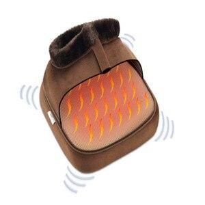 Image 4 - Chaussure de Massage électrique chauffante 2 en 1, accessoire confortable unisexe, chauffant, taille, en velours