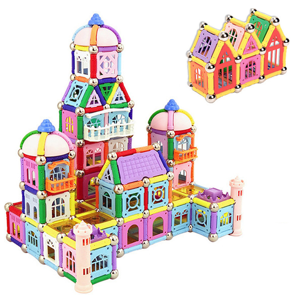 438pcs Magnet Toys Magnetic Sticks Bars Metal Balls Model & Building Construction Blocks Educational Toys For Children Gifts(China)
