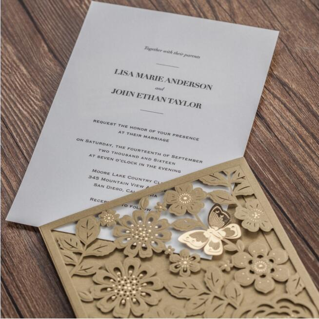 50pcs/pack Europe Royal Style New Arrival Gold Pocket Wedding Invitation Card with Laser Cut Elegant Birthday Party Card global elementary coursebook with eworkbook pack