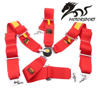 SAB Style Competition 4 Point Snap In 3 Seat Belts Harness With Camlock With Logo And