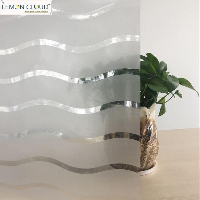 Lemon Cloud No Glue Home Decorative French Door Window Films Glass Stickers  Foil For Windows Size