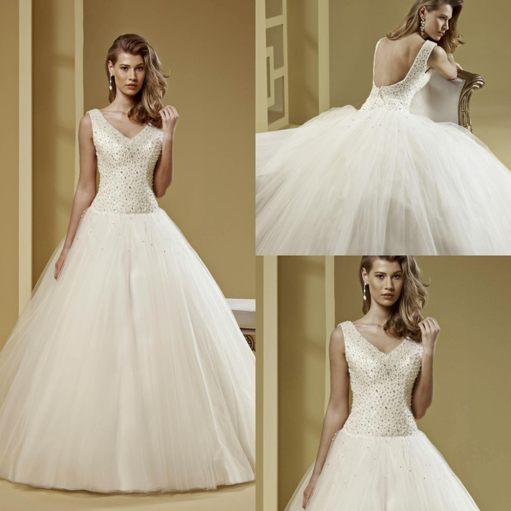 V neck ball gown tulle crystal beading greek style wedding for Greece style wedding dresses