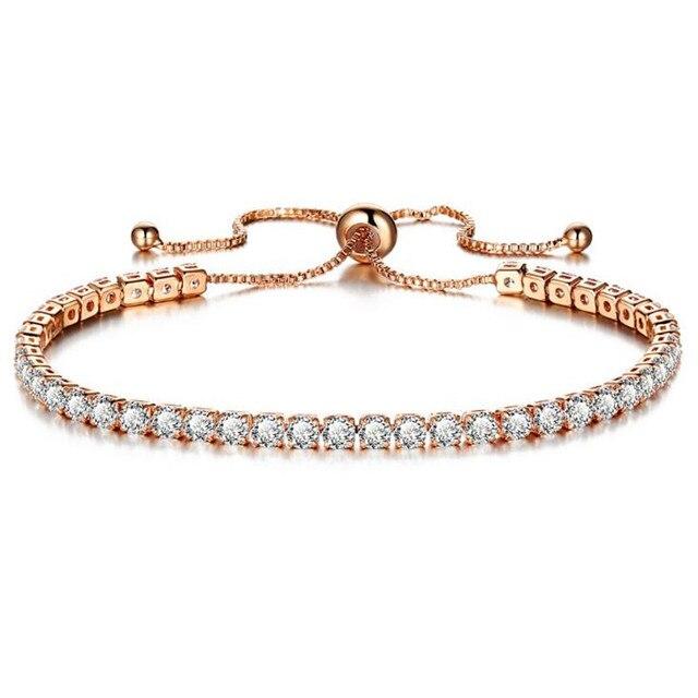 Женский браслет с цепочкой diezi роскошный цвета розового золота