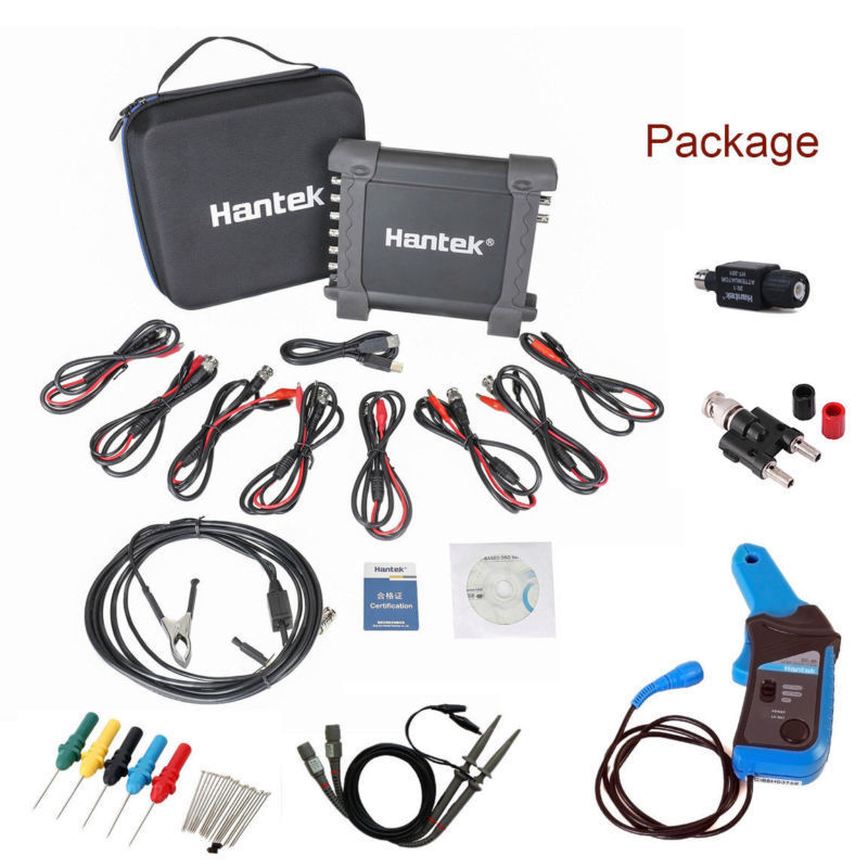 Hantek Oscilloscope Numérique Osciloscopio CC65 + 1008C Automobile Portable Générateur USB 2 Canaux Multimètre Oscilloscope