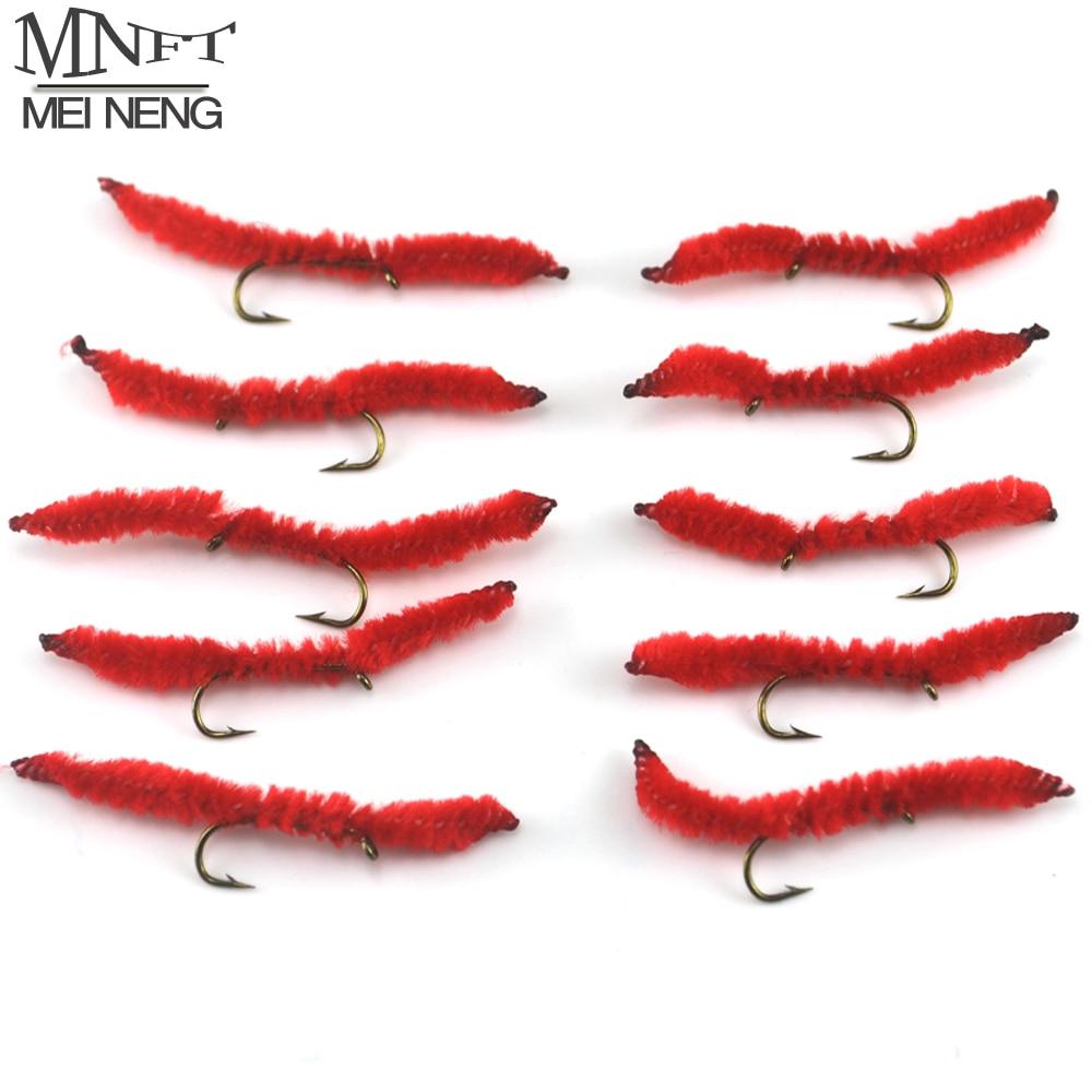 mnft atacado 100 pcs saco 10 cores vermelhas san juan vermes ninfas mosca pesca