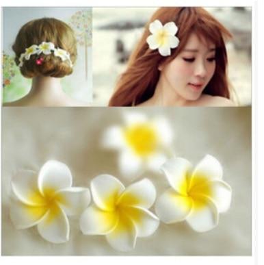New Bohemia orchid corsage frangipani hairpin headdress Women Wedding Flower Wreath headband crown Hair Accessories