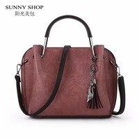 SUNNY SHOP Brand Designer Women Bag High Quality PU Leather Handbags Vintage Small Messenger Bag With