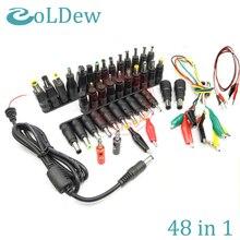 Conector adaptador de fuente de alimentación Universal para portátil, 48, 1 par, para HP, IBM, Dell, Apple, Lenovo, Acer, Toshiba