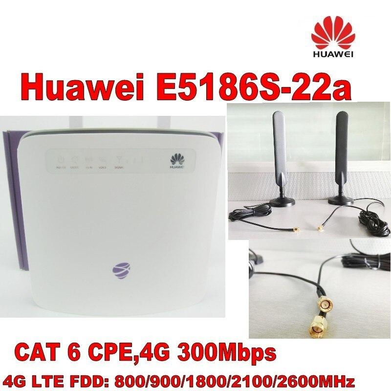 HUAWEI E5186s-22a 5G LTE-A CAT6 CPE Router+ External 49DBI High Gain 4g Antenna