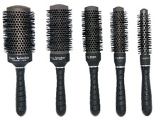 Hot saling Nano ceramic hair brush in black color, ionic round brush in Nano technology price for i 1 set 5 pcs