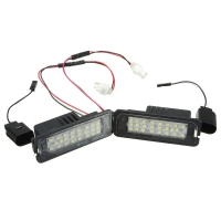 2Pcs LED License Plate Light 6000K 24leds Number Plate Light For VW Passat Golf GTI MK5