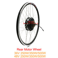 free shipping 36V 48V 250W 350W 500W rear motor wheel for ebike kit brushless hub motor wheel Electric Bike Conversion Kit