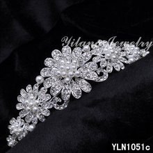 Crystal Rhinestone Crown Tiara Wedding Prom Bride's Headband wedding hair jewelry bridal accessories head jewelry head piece