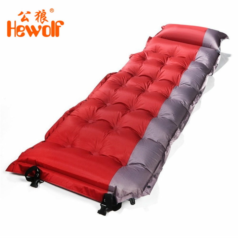 Thicken Self Inflating Sleeping Mat Outdoor Beach Camping Inflatable Mattress Moisture-Proof Pongee Fabric Tent Pad Cushion все цены