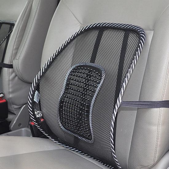 Cojín del asiento del coche Soportes lumbares Silla de oficina Sofá Cojín de masaje lumbar fresco Respaldo Brace Almohada accesorios para el automóvil car styling