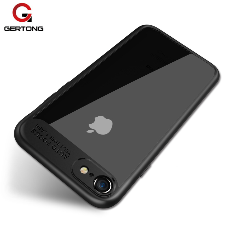 GerTong For iPhone 7 Case X 6 S 6S Plus Cover Capa Coque For Apple 7 Plus Funda Cases Soft TPU Bumper + PC Armor Phone Bag Shell
