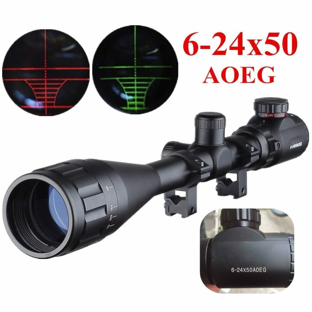 Hunting Rifle Tactical professioanl high quality Red Dot Sight Adjustable Riflescope 6 24X50 AOEG Reticle Riflescopes