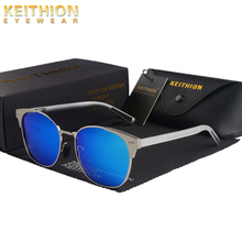 KEITHION  New Fashion Retro Designer Super Round Circle Glasses Cat Eye Women Sunglasses Goggles Polarized