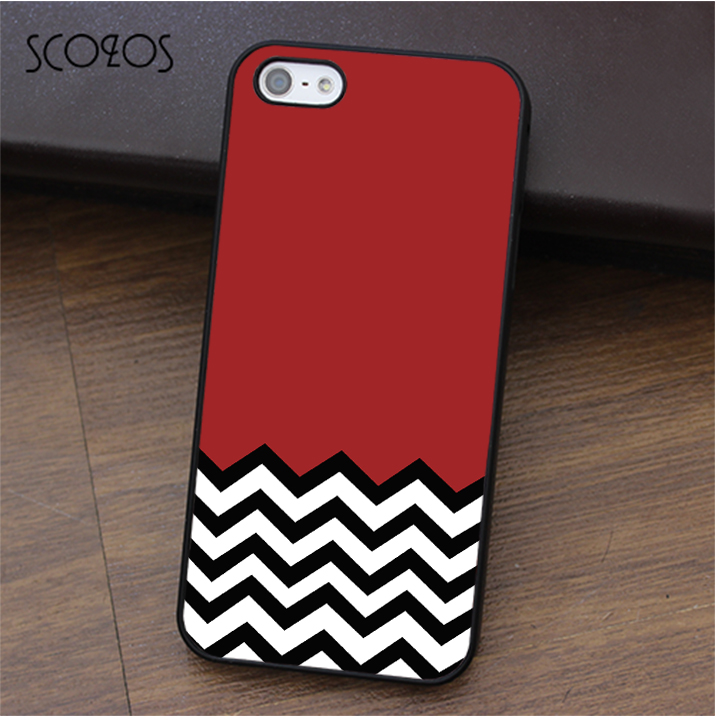 SCOZOS Red Black & White Welcome To Twin Peaks phone case for iphone X 4 4s 5 5s Se 5C 6 6s 7 8 6&6s plus 7 plus 8 plus #ca358