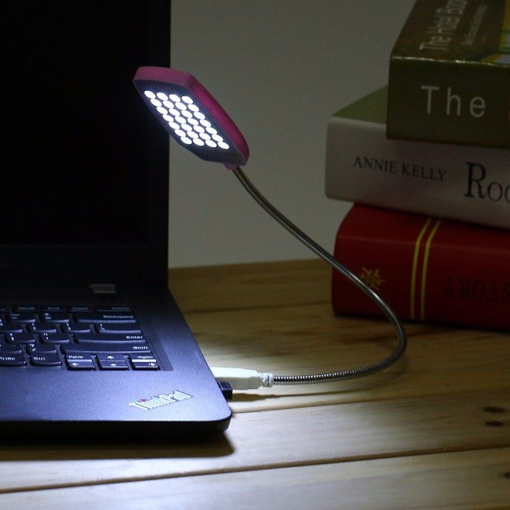 1 шт. яркий 28 светодиодный USB Mini свет гибкий компьютер лампы портативных ПК рабочий стол Чтение розовый сине-белые USB СВЕТОДИОДНЫЙ светильник