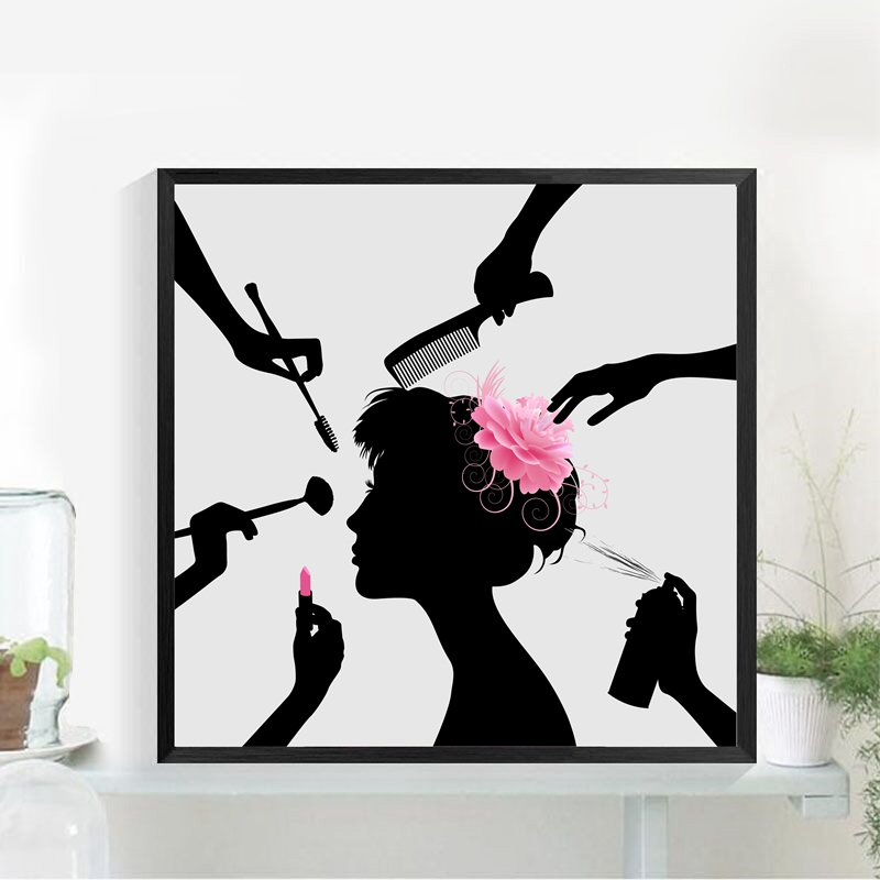Us 6 33 20 Off Beauty Salon Wall Art Painting Poster Dressing Room Decor Make Up Canvas Painting Hairdressing Shop Beauty Salon Decoration In