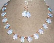 """Aleación de Zinc perlas africanas joyería conjunto joyería de la perla y ópalo del pendiente 17.5 """""""