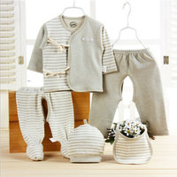 Hot Wholesale 5PCS Set 100 Cotton The Newborn Baby Supplies Newborn Baby Gift Set Baby Clothes