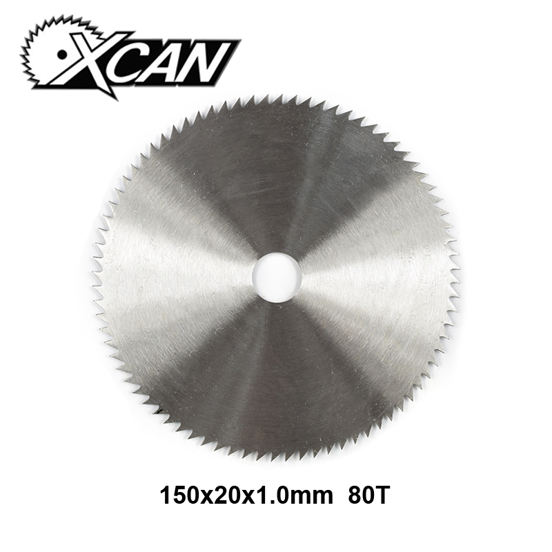 XCAN 1pc Diameter 150mm 80 Teeth Manganese Steel Circular Saw Wood Saw Blade Disc For Wood Cutting