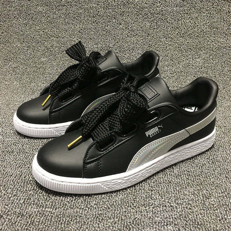 c2ca3b54fed US $60.64 10% OFF|Original PUMA Basket Heart Patent Women's Sneakers Suede  Satin Badminton Shoes size36 40-in Badminton Shoes from Sports & ...