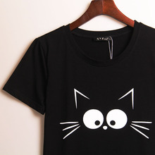 Cute Black Cat T-shirt