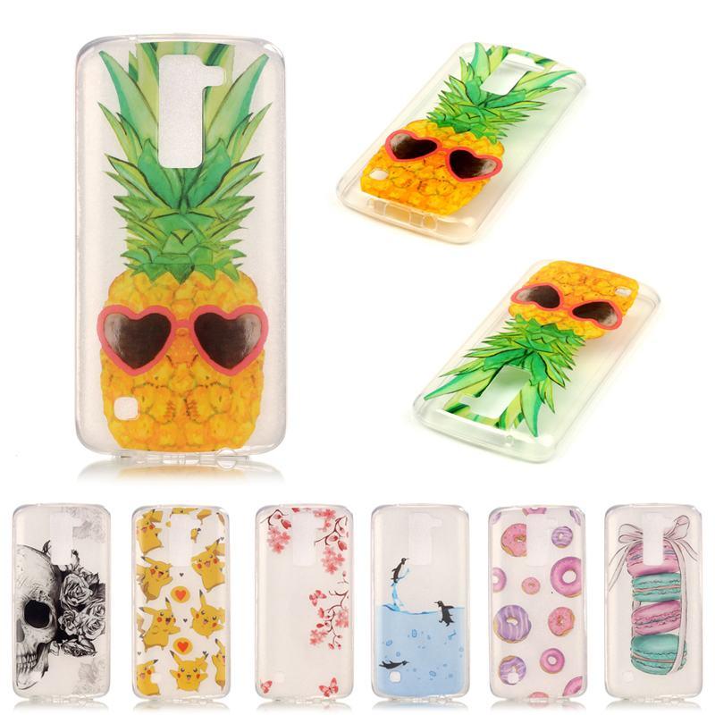 Para Capa Para LG K7 caja silicona transparente claro TPU teléfono ...