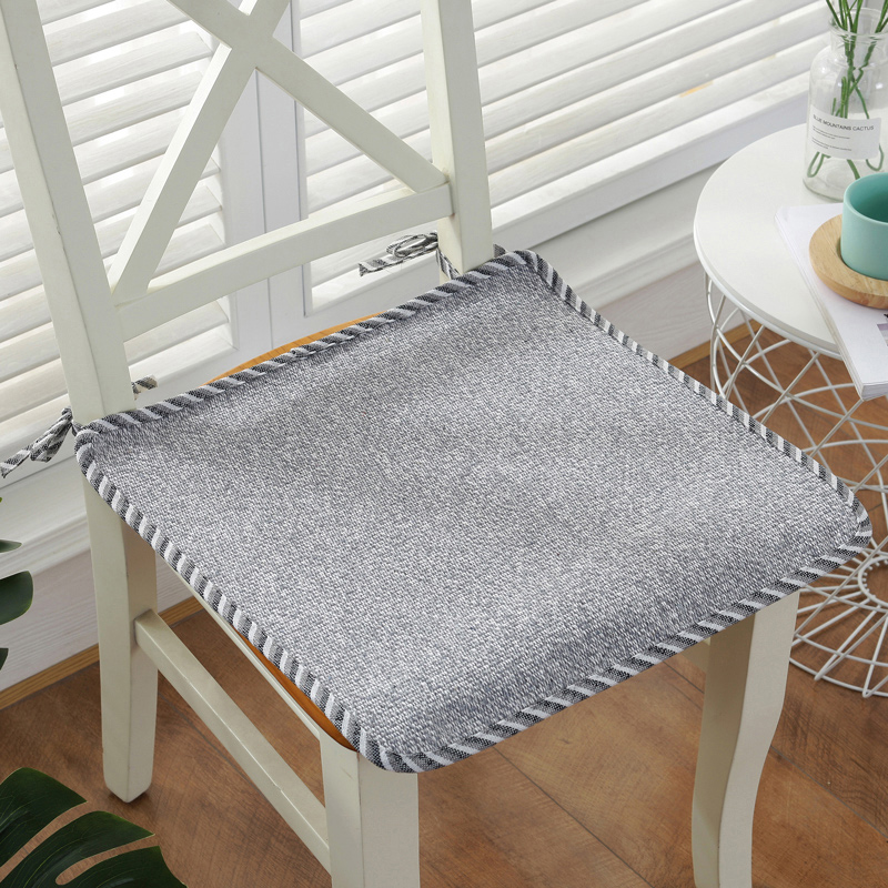 High Quality Chair Cushion Home Office Decor Cushion Solid Color Seat Pad Cushion Can Be Fixed On Chair Four Seasons Sit Mat
