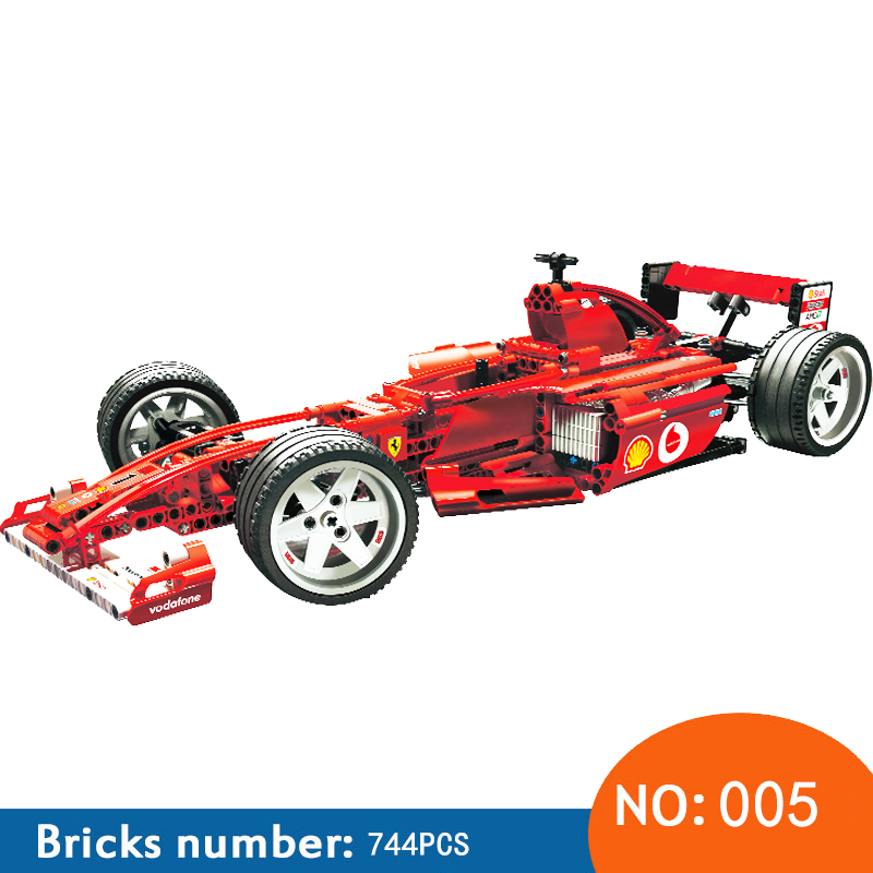 NEW YILE 005 Compatible Race The Formula Racing Car 1:10 F1 3335 Model Building Blocks Policeman Educational Toys For Children цена